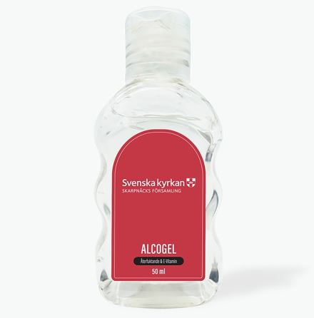Handgel / Alcogel 50 ml. incl. logo label